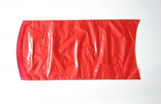 Вакуумный термоусадочный пакет 250×500 мм для сыра красный