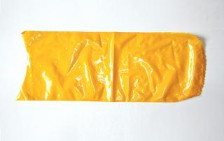 Вакуумный термоусадочный пакет 200×500 мм для сыра желтый