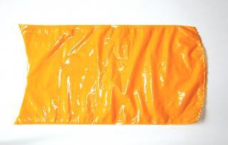 Вакуумный термоусадочный пакет 280×500 мм для сыра оранжевый